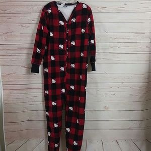 Hello Kitty Buffalo Check Plaid Onesie